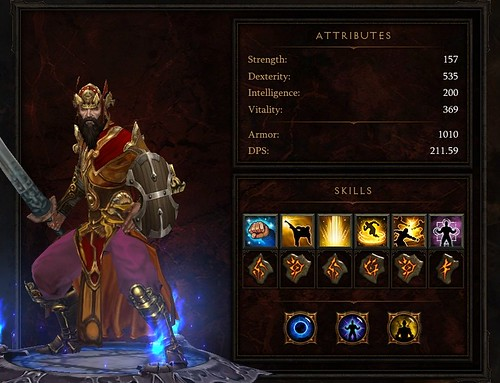 Diablo 3 Monk Attributes