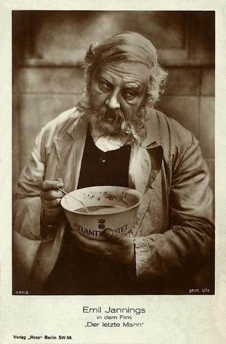 Emil Jannings in Der letzte Mann/The Last Laugh