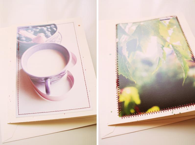 {note card} blueberry tea | sunshine