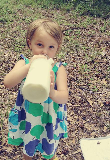 sassy drinking milk