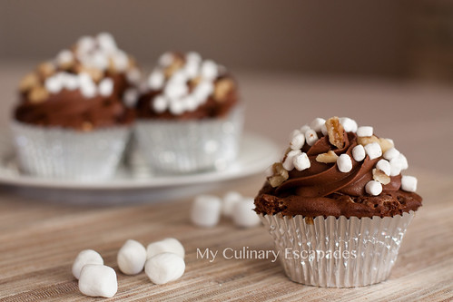 Rocky Road Cupcake with Kraft Mallow Bits