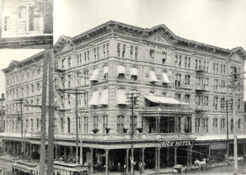 Rice Hotel, pre-1913 building
