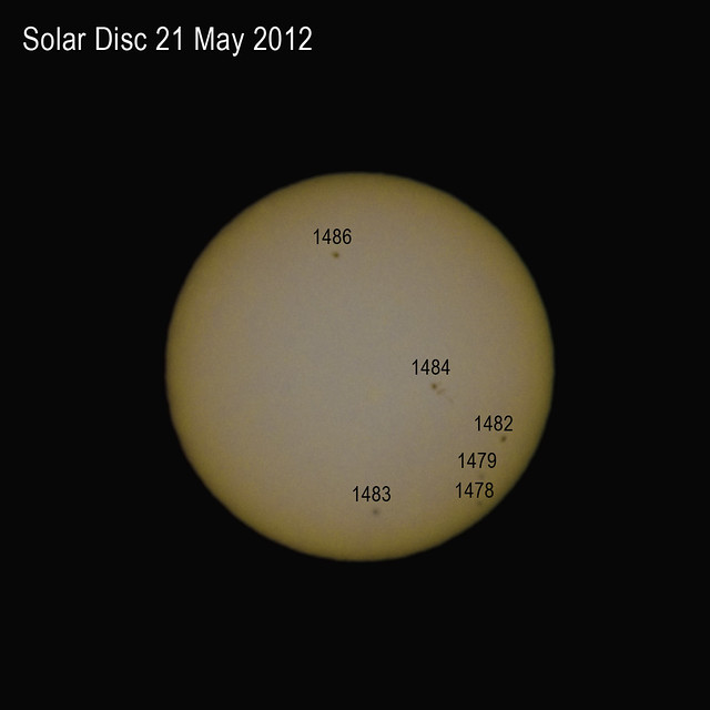 Solar Disc 21 May 2012