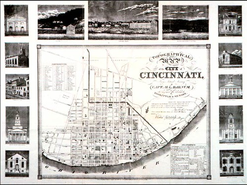 Topographical Map of the City of Cincinnati, from Actual Survey by Capt. H. L. Barnum