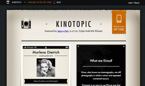 Kinotopic - iPhone app to create Kinos and Cinemagraphs