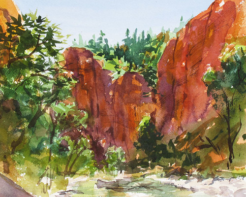 Narrows-plein-air by Spencer Mackay