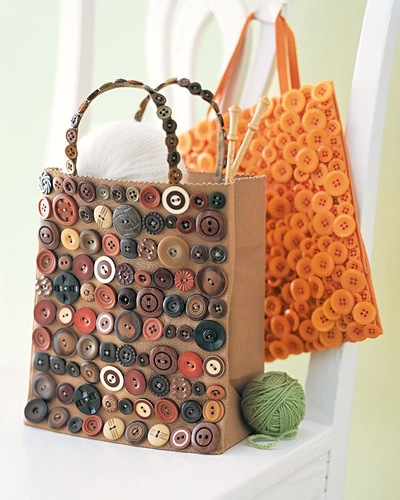DIY bag buttons craft