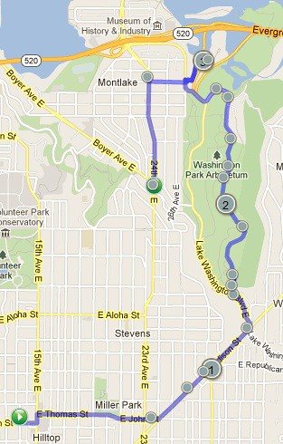 Today's awesome walk, 3.81 miles in 1:13 by christopher575