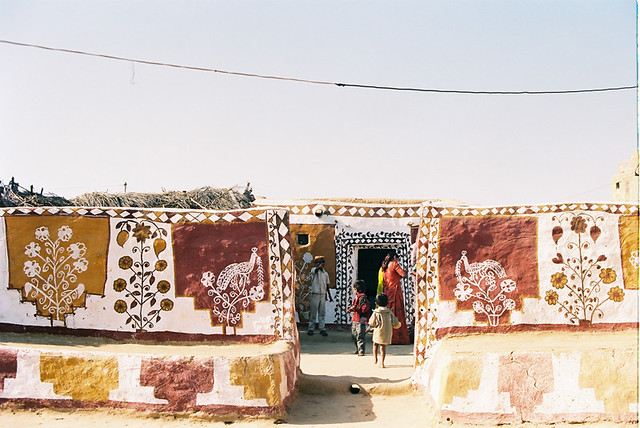 the paintings on the walls called mandana