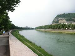 il lungo Adige a Trento