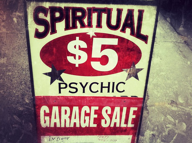 Spiritual $5 Psychic Garage Sale