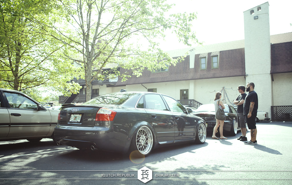 grey b6 audi a4 on rotiform at southern worthersee 2012