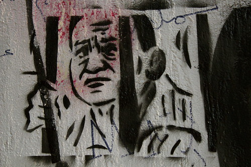 Mubarak in jail graffiti