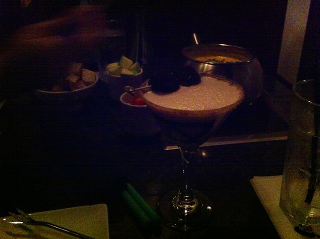Birthday martini!