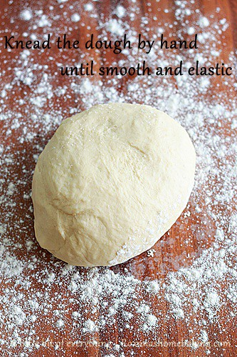 Knead the dough by hand