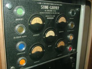 An english made Stone-Carrier air-conditioner of MÁV 44, Silver Arrow, Kádár-train