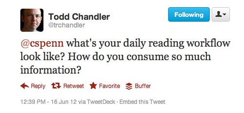 Twitter / trchandler: @cspenn what's your daily