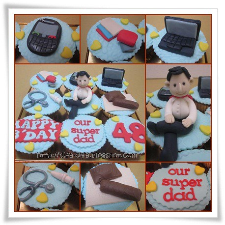 Cupcakes for Super Dad by DiFa Cakes