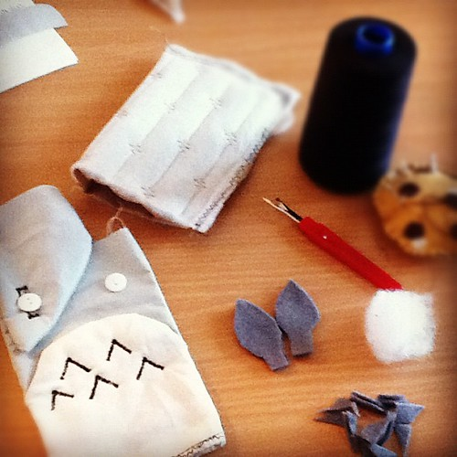 Cover totoro... Working progress #handmade #uk