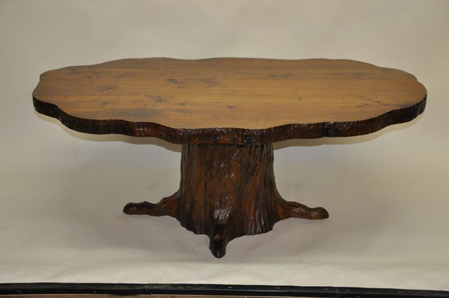 Tree Trunk Carved Walnut Coffee Table Flickr Photo Sharing