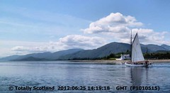 Yacht at Corran Narrows