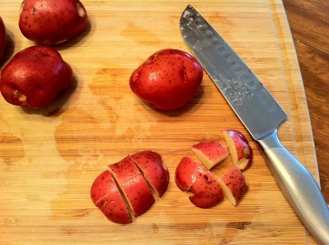Red Potatoe in 1-inch Chunks