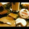My version of a balanced dinner: Pâté, Camembert and a baguette