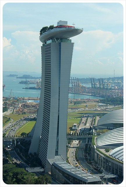 singapore flyer marina bay sands view