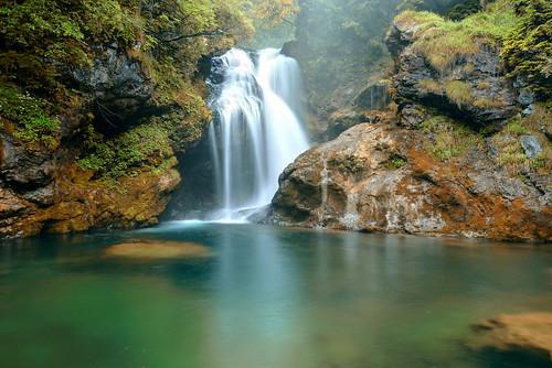 Rainy Shum Waterfall (Vintgar Gorge)