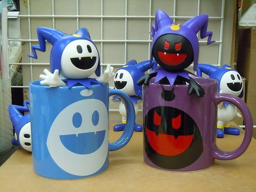Jack Frost and Black Frost inside their own mugs