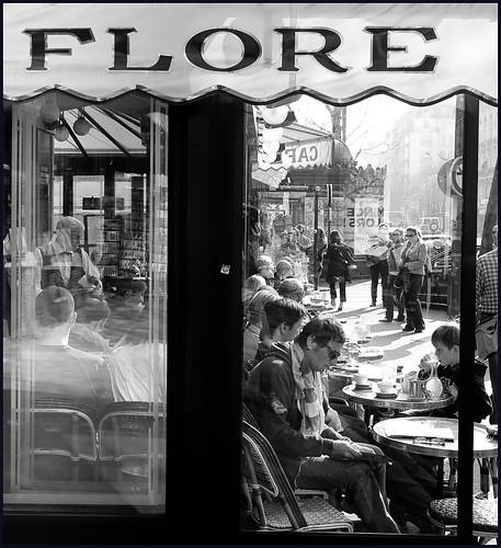 café  Flore Parijs by hans van egdom