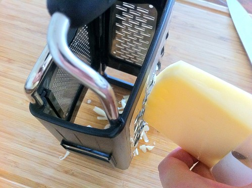 Grating Gruyere Cheese