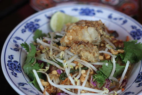 Fried Oyster & Bacon Pad Thai