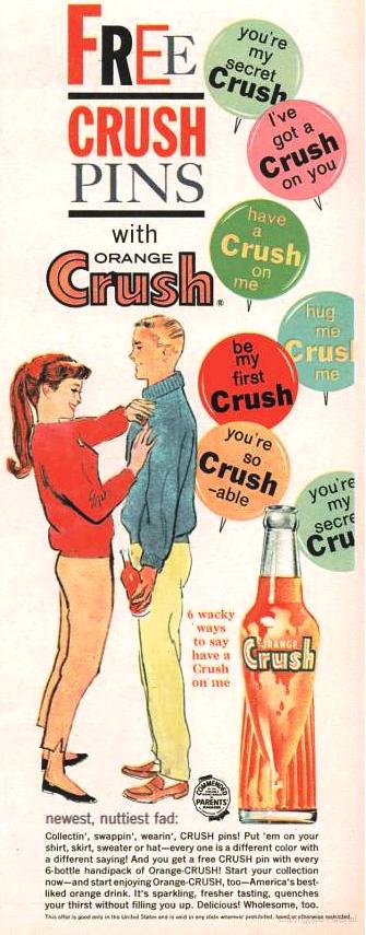 orange crush - crush pins