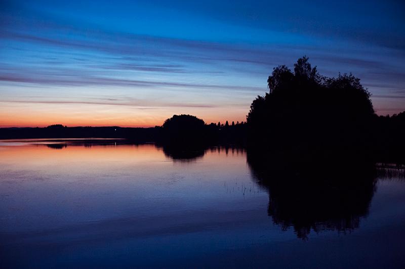 Glomma by night
