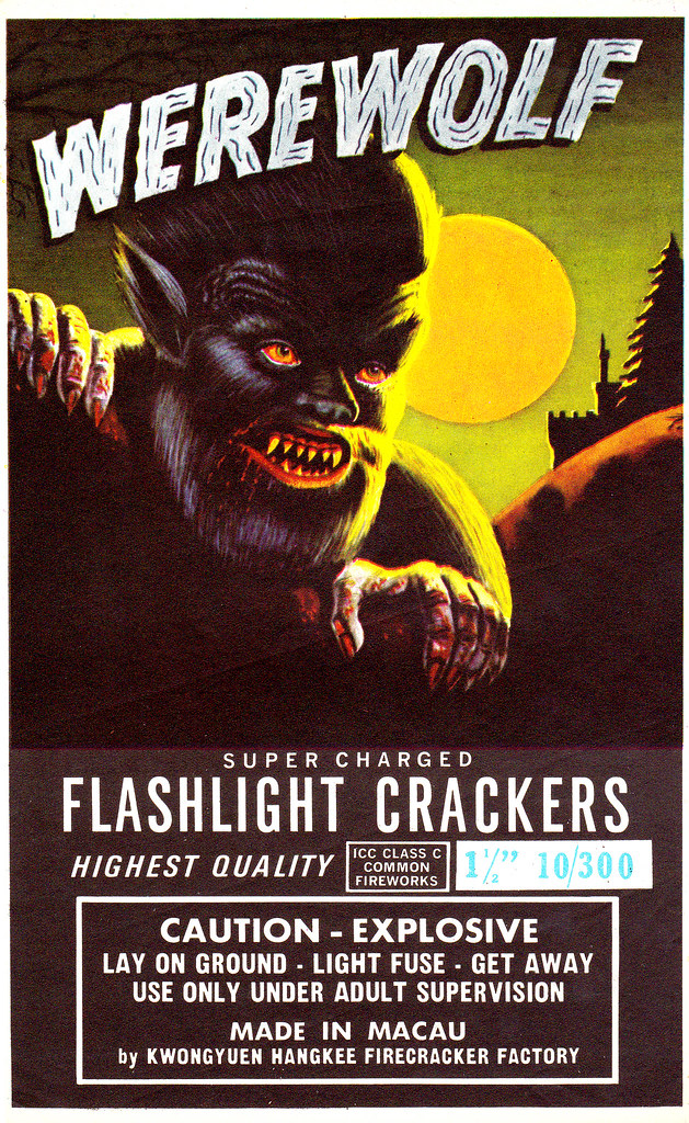 Werewolf - Firecracker Brick Label