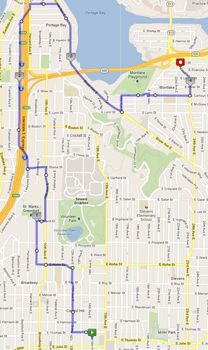 Yesterday's awesome walk, 4.13 miles in 1:21 by christopher575