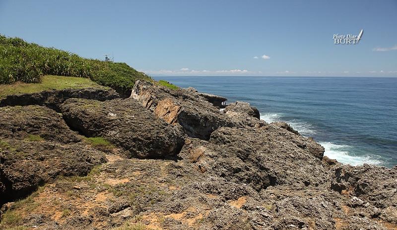 日落亭向海洋滑落崩移的珊瑚礁