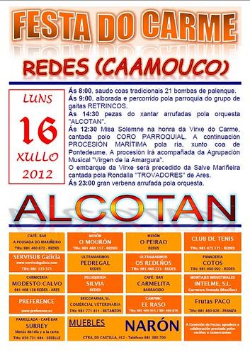 Ares 2012 - Festas do Carme en Redes - cartel