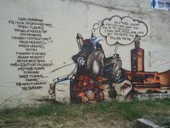 2012.07.13 Wall graffiti Nairobi on Kenyas leaders (1) - KE