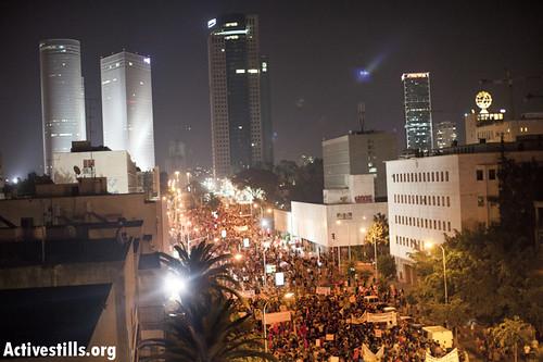 Protest for social justice, Tel Aviv, Israel, 14.7.2012