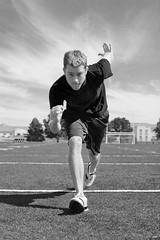 Football Run B+W