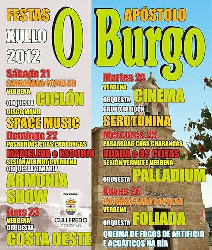 Culleredo 2012 - Festas patronais do Burgo - cartel