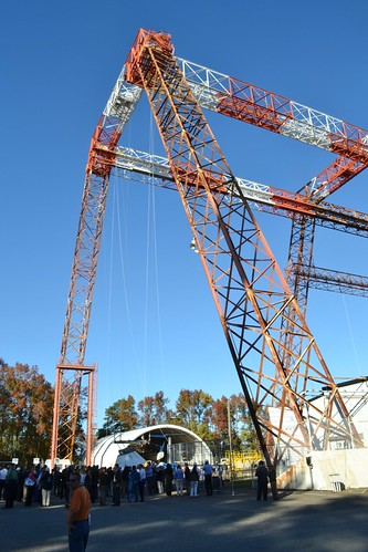 Landing Impact Research/Hydro Impact Basin Facility's enormous gantry