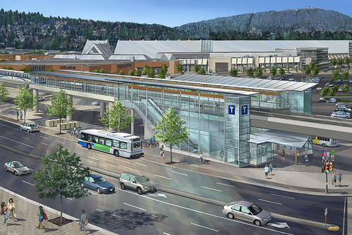 Public transit light rail in Coquitlam