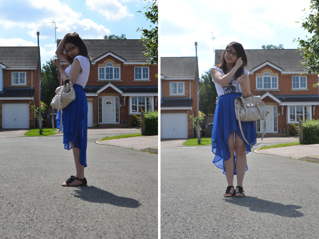 daisybutter - UK Style and Fashion Blog: what i wore, ootd, wiwt, dipped hem, SS12, british style, casual chic