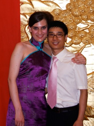 John and I at our wedding ceremony in China