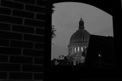 The United States Naval Academy Chapel at Night [B/W]