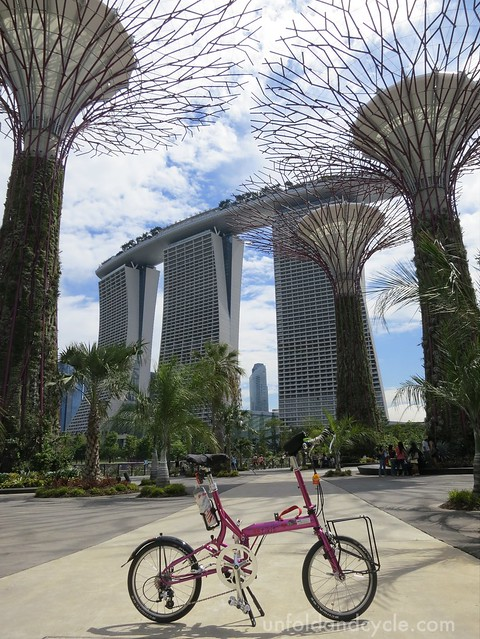 my Tikit overlooking the Marina Bay Sands and the supertrees at Gardens By The Bay