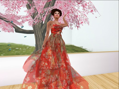 Desir - July Group Gift - Red Kimono dress by Cherokeeh Asteria